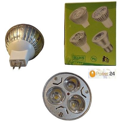 5x MR16 3-LED Spot Warmwit 3 * 3 W. - dimbaar