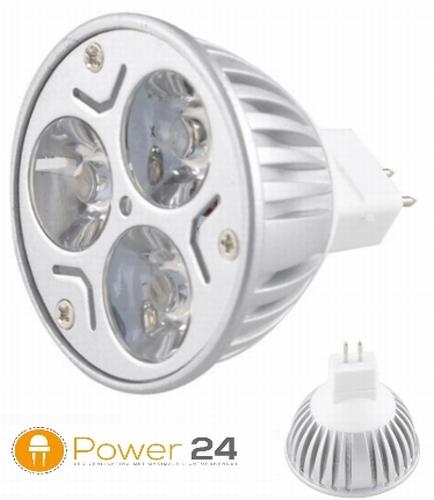 Cree MR16 - 9W - 12 V. - 640 lumen - 90° warm wit - dimbaar