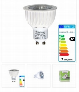 National Electronics GU10 COB 7W 560 Lumen 60° warm wit