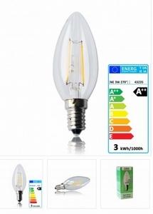 National Electronics E14 Filament 3W 300 Lumen 270° warm wit
